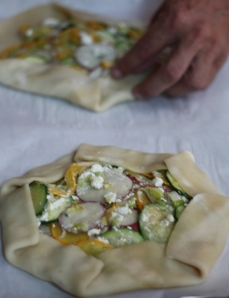 Summer Squash Tart read for the oven