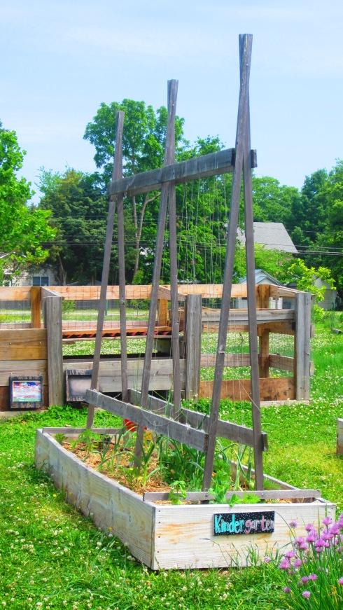 Linwood-Holton Elementary School garden