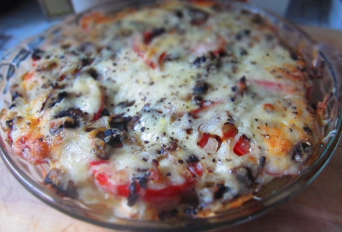Tomato-Cheese Pie