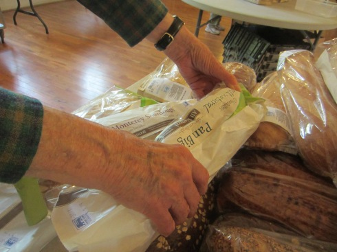 Ray Jackson preparing the bread table